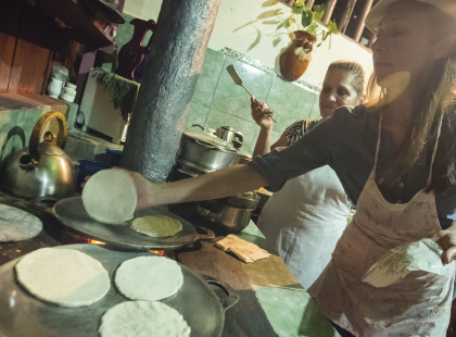 Explore Costa Rica - Tortilla Making and Home Dinner