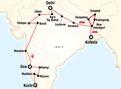 Kolkata to Kochi by Rail