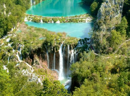 Cycle to the upper reaches of Plitvice Lakes National Park, a UNESCO World Heritage site, and marvel at the karst hydrogeology.