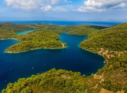 Mljet Island, considered to be one of Croatia's most beautiful, is known for its wine, olive oil, goat cheeses.