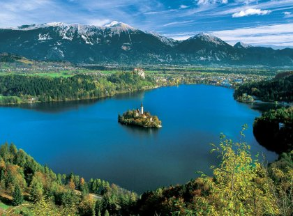 From the snow-capped Julian Alps to the Adriatic Coast tiny, Slovenia is big on beauty, showcasing baroque palaces, medieval hamlets and abundant wilderness.