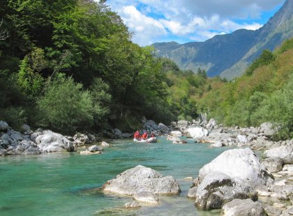 "The Soca River offers the option to run rapids after spending time exploring the high country outside Kobarid, immortalized by Hemingway in ""A Farewell to Arms."""