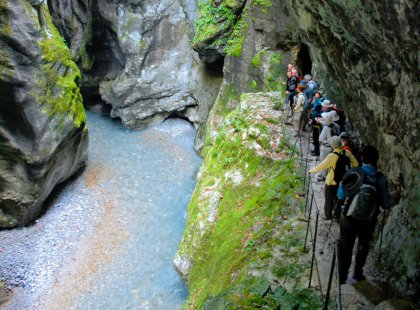 Experience some of the region's best hikes, leading over Napoleonic bridges, past waterfalls, and into deep canyons and caves.