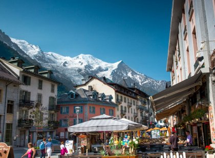 With the Mont Blanc massif as its extraordinary backdrop, the bustling resort town of Chamonix attracts hikers from all over the world.