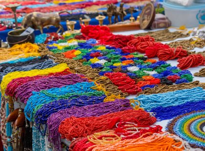 Visit the famed indigenous market at Otavalo. The Quechua are best known for their colorful textiles but other handicrafts abound!