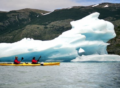 On this action-packed adventure we kayak close to a stunning glacier.