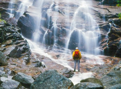 We'll enjoy unsurpassed scenery including waterfalls, brooks, and mountain summits.