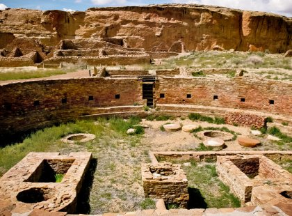 Explore the most exceptional concentration of pre-Columbian ruins in the United States in New Mexico's remote Chaco Culture National Historic Park.