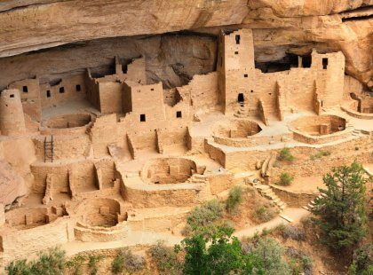 Built by the Ancestral Puebloans, Cliff Palace (the largest cliff dwelling in North America) is one of the many remarkable ruins found in Colorado's Mesa Verde National Park.