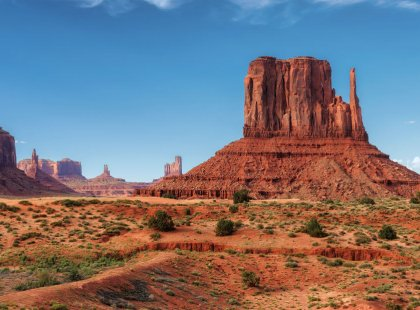 Hike among the towering buttes and mesas of Monument Valley, one of the most iconic landscapes of the American Southwest.