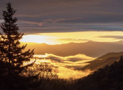 Our four-day journey through the Blue Ridge Mountains offers expansive views of Appalachian peaks.