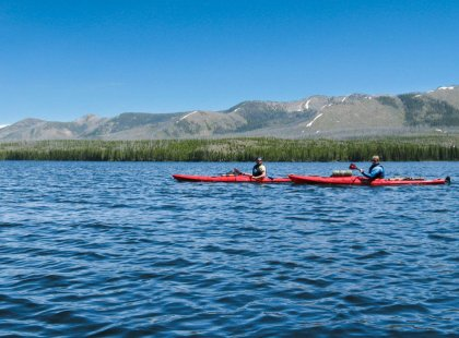 Paddling in stable kayaks on Yellowstone's backcountry lakes, we gain a unique appreciation of our nation's first national park.