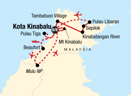 Borneo & Mt Kinabalu Encompassed