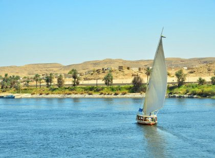 Jump aboard a felucca and cruise down the famous Nile in Egypt