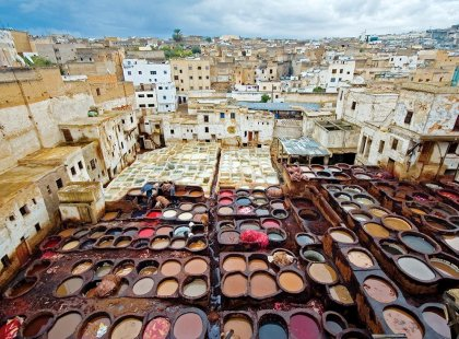 Local tanneries, Fes