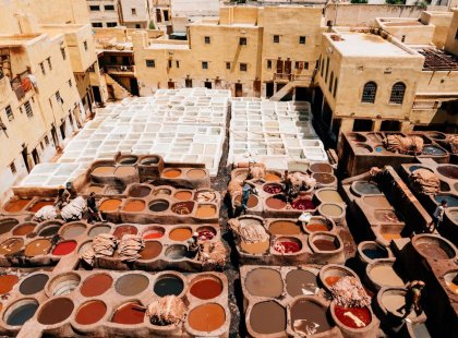 Morocco-Fes-rooftop-clothes-wash
