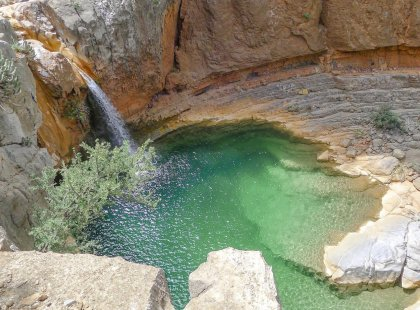 Waterfall in Paradise Valley, Agadir, Morocco