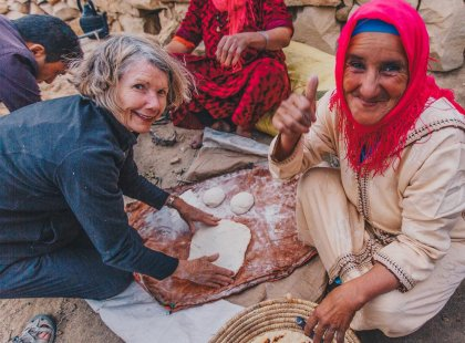 Try your hand at making bread in the traditional Berber way