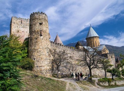 Explore the Ananuri castle complex in Georgia