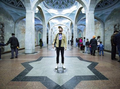 The Metro stations inTashkent , Uzbekistan are exquisite