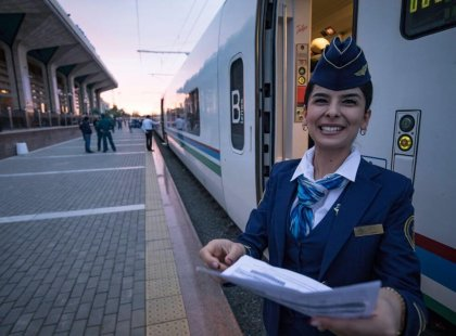 Explore Uzbekistan on a bullet train with Intrepid travel