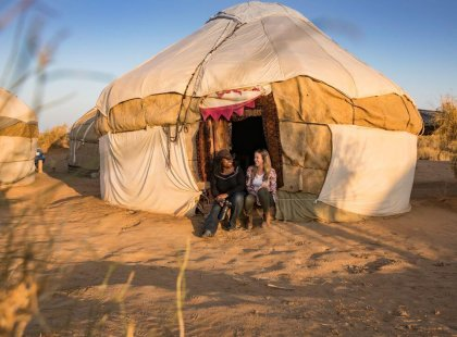 Witness Yurt Camp Uzbekistan with Intrepid Travel