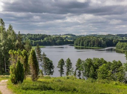 Intrepid Travel lithuania aukstaitija national park forest lake landscape