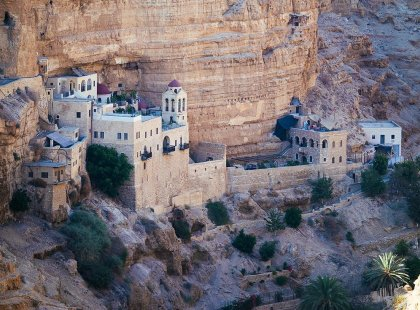 Monastery on cliff, St George of Goziba, Israel & the Palestinian Territories