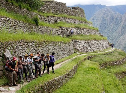 Trekking the Inca trail in Peru