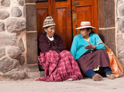 Some of the locals in Cuzco, Peru