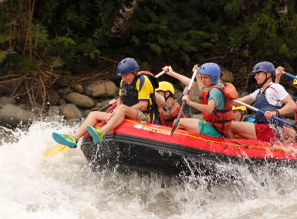 White water rafting in Ecuador
