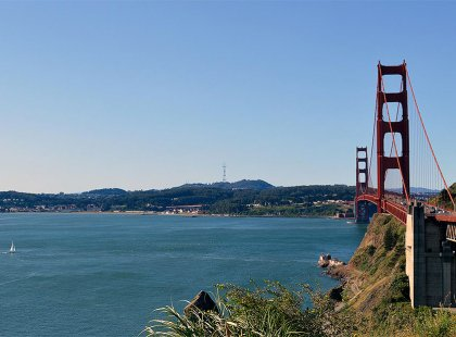 On a clear day, we will sneak in a ride across the Golden Gate Bridge to begin our journey.