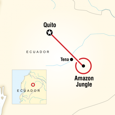Local Living Ecuador—Amazon Jungle - Tour Map