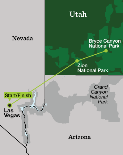 Zion New Year's Adventure - Tour Map