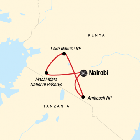 Kenya Safari Experience - Tour Map
