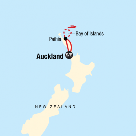 New Zealand–The Bay of Islands - Tour Map