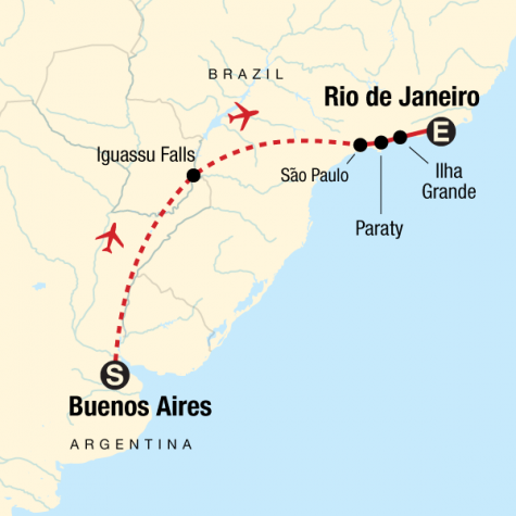 Iguassu & Beyond - Tour Map