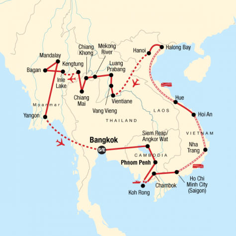 Indochina In-Depth - Tour Map