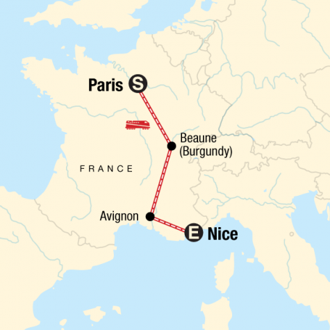 Highlights of France - Tour Map