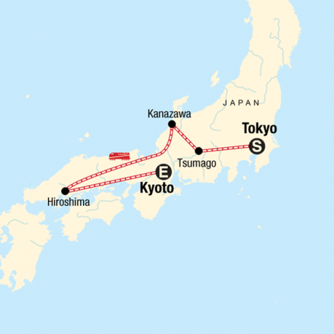 Iconic Japan - Tour Map