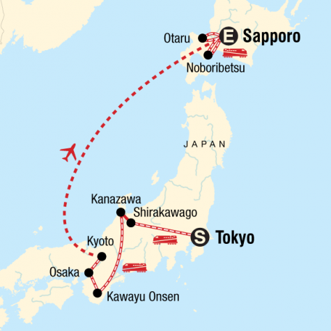 Sapporo Snow Festival & Japan Winter Highlights - Tour Map