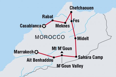 Morocco Uncovered - Tour Map