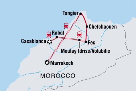 North Morocco Adventure - Tour Map