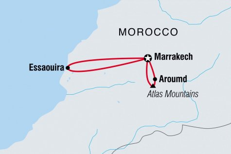 Morocco Family Holiday with Teenagers - Tour Map
