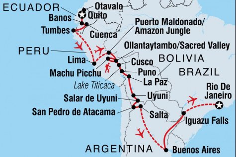 Epic South America - Tour Map